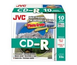 JVC CD-R printable photo IJw slim tokban 10 db/cs
