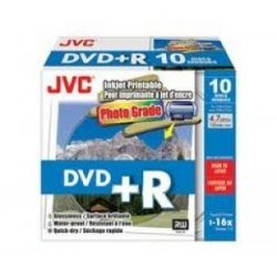 JVC DVD+R printable photo IJW lemez slim tokban 10db/cs